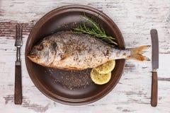 Delicious mediterranean seafood. Royalty Free Stock Image