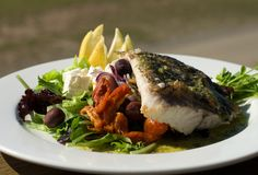 Grilled Barramundi Royalty Free Stock Photos
