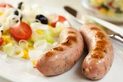 Free Grilled Bavarian Sausage Royalty Free Stock Image - 14785126