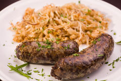 Grilled bavarian sausage Stock Photography