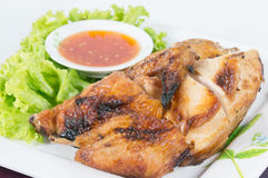 Grilled BBQ Chicken with thai herbs Stock Photos