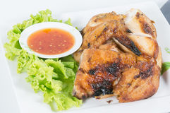 Grilled BBQ Chicken with thai herbs Stock Images