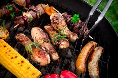 Grilled bbq meal Royalty Free Stock Photo