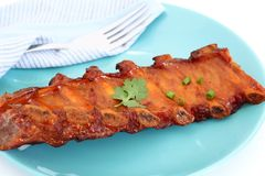Grilled BBQ pork ribs Royalty Free Stock Photography