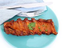 Grilled BBQ pork ribs Stock Images