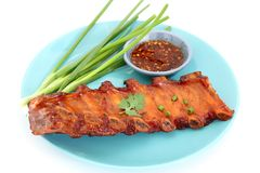 Grilled BBQ pork ribs Stock Photos