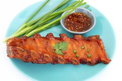 Grilled BBQ pork ribs Royalty Free Stock Photos