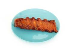 Grilled BBQ pork ribs Stock Photo