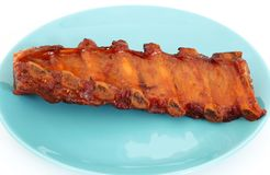 Grilled BBQ pork ribs Stock Image