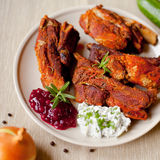 Grilled BBQ ribs Royalty Free Stock Image