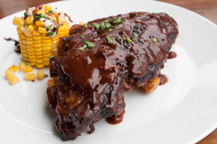 Grilled BBQ spare ribs Royalty Free Stock Photos