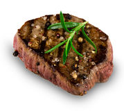 Grilled bbq steak. On white background stock photography