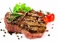 Grilled bbq steaks Stock Photography