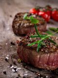 Grilled bbq steaks Royalty Free Stock Photos