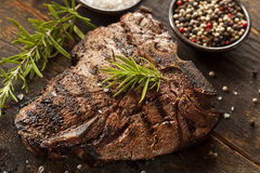 Grilled BBQ T-Bone Steak Royalty Free Stock Image