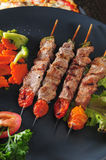 Grilled pork skewer Royalty Free Stock Images