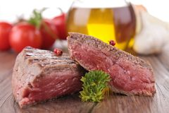 Grilled beef,barbecue Stock Photo