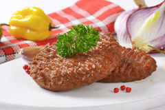 Grilled Beef Burger Patties Royalty Free Stock Photo