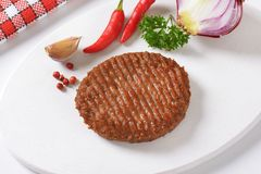 Grilled Beef Burger Patty Royalty Free Stock Photography