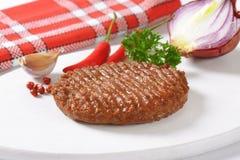 Grilled Beef Burger Patty Stock Photos