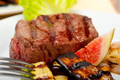Grilled beef filet mignon royalty free stock photo