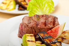 Grilled beef filet mignon Royalty Free Stock Photography