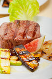 Grilled beef filet mignon Royalty Free Stock Images