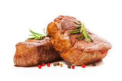 Grilled beef fillet steaks with spices Royalty Free Stock Image