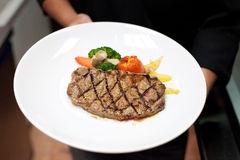 Grilled beef fillet with tomato Stock Photos