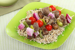 Grilled Beef Kabobs Royalty Free Stock Photo