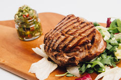 Grilled beef meal Stock Images