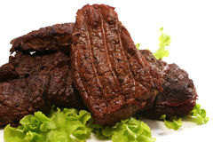 Grilled beef meat Royalty Free Stock Images