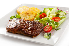 Grilled beef Stock Images