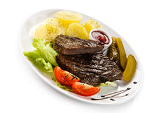 Grilled beef Stock Image