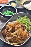 Grilled beef onion slice. Japanese grilled beef onion slice stock images