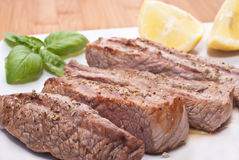 Grilled beef sliced Royalty Free Stock Image