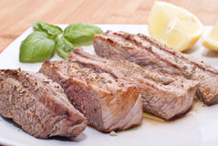 Grilled beef sliced Stock Image
