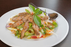 Grilled beef spicy salad. Thai food - Grilled beef spicy salad Stock Photos