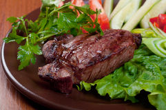 Grilled beef  - steak Royalty Free Stock Images