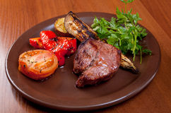Grilled beef  - steak Royalty Free Stock Photography