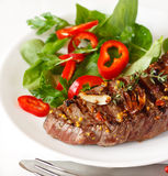 Grilled beef steak. Royalty Free Stock Images