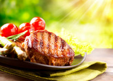 Free Grilled Beef Steak Stock Photo - 30227810
