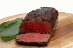 Grilled beef steak. On a board stock photos