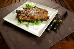 Grilled beef steak with bone Stock Photos