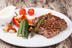 Grilled beef steak Royalty Free Stock Image