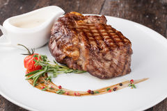 Grilled beef steak Stock Images