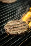 Grilled Beef Steak on Fire royalty free stock photo
