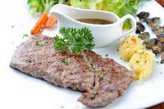 Grilled Beef Steak. Grilled Beef Strip Loin Steak Stock Photo