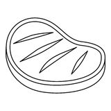 Grilled beef steak icon, outline style Stock Photo