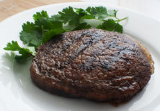 Grilled beef steak loin. With cilantro Stock Image